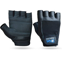 DAM Weight Lifting Gym Gloves Black Unisex Cowhide Leather GYM Exercise Gloves