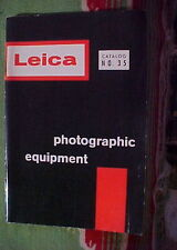 Vintage LEICA CATALOG No. 35 PHOTOGRAPHIC EQUIPMENT FEB 1 1960