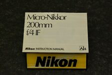 nikon 200 4 micro ais, manual English, ex++/mint-, original, beautiful,very nice