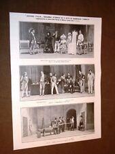 Milano Teatro Dal Verme 13 giugno 1910 Giovine Italia di Tumiati + Ambrosiano