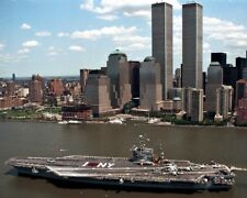 New 11x14 Photo: USS John F. Kennedy (CV-67) Passes World Trade Center, 2001
