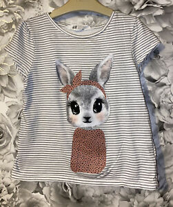 Girls Age 6-8 Years - H&M Short Sleeved Top