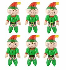 INFLATABLE ELVES x 6 Santa Helper Christmas Decoration Blow Up Doll Elf Toy Gift