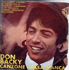 45 giri- Don Backy Canzone- Casa bianca  SC2
