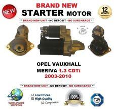 Per OPEL VAUXHALL MERIVA 1.3 CDTI 2003-2010 nuovo motore di avviamento 1.1 KW 9 DENTI