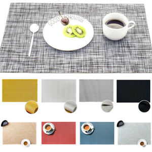 Rectangle Placemats Braided Thick Insulation Pad Tableware Mats Non-Slip Decor