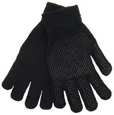 3 Pair Mens Winter Gripper glove  black -work gloves-grip glove-driving glove