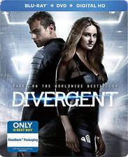 Divergent (Blu-ray/DVD, 2014, Includes Digital Copy Steelbook)Brand New