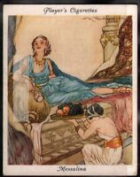 Valeria Messalina Beautiful Scandalous Ancient Roman Woman c80 Y/O Ad Trade Card