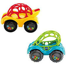 2 x OBall First Baby Rattle & Roll Flexible Teethable Car