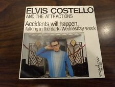 "Rare Dutch ELVIS COSTELLO 7"" 45 Accidents Will Happen +2 Holland only PS Radar"