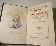 Apostolo Zeno : Compendio di Storia Veneta - Venezia 1847  Repubblica Veneta