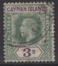 Isole Cayman SG50 1912 3/= Verde & Violet BENE USATO