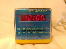 Vintage Crayola TUNE TIME AM FM Alarm Clock Radio Cube Work Great! RARE! Yellow