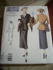 Vintage Vogue 2339 Sewing Pattern Skirt Jacket 1948 Design Sz 12-16 NEW!