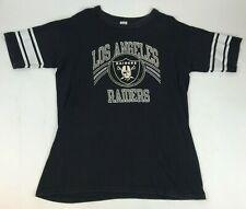 Vtg 90s CHAMPION Los Angeles RAIDERS S/S T-Shirt STRIPED USA Made DISTRESSED XL