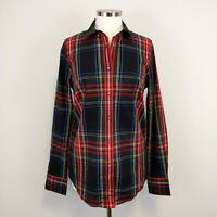 J. Crew Stretch Perfect Shirt in Stewart Tartan Tall Curvy Slim Sz 10 Women's