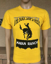 NWOT Vintage Mayan Ranch The Buck Stops Here Single Stitch T Shirt USA Small