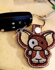 FREE SHIPPING Custom Gremlins Gizmo Keychain Key Fob (ONE) - Great Gift!
