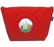 "*NEW*  LEE Silk Zip Clutch Purse Bag in Red for 2.75"" Rd. Needlepoint Canvas"