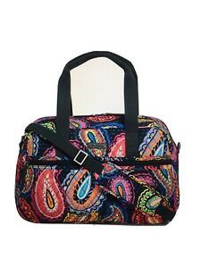 Vera Bradley Compact Traveler Bag TWILIGHT PAISLEY Pattern Carry On Fold 23169