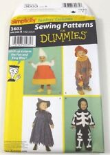Simplicity 3603 Halloween Costumes Pattern Uncut  6 Months To 4 Years
