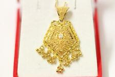 916/22ct sparkling attractive indian gold pendant *Boxed*