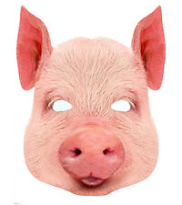 Cochon Animal carte unique 2D Fête Masque Visage bétail ferme porky museau