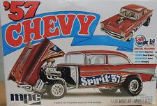 1957 CHEVROLET BEL AIR GASSER DRAG CAR MPC 1:25 SCALE PLASTIC MODEL CAR KIT