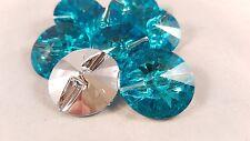 2.5cm - 4 hermosa forma de diamante Turquesa 1 Agujero Botones para Manualidades Hágalo usted mismo de costura