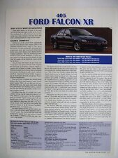 FORD EF FALCON XR6 & XR8 MAGAZINE PREVIEW ARTICLE WITH TECHNICAL DETAILS
