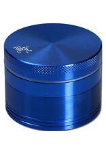 BLACK LEAF grinder in alluminio 4 pezzi 50mm setaccio Mulino ALLUMINIO 4tlg. Mulino spezie blu