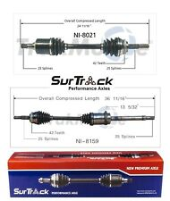 2 Front CV Axle Shafts for Nissan Sentra FWD 2.0L w/o Limited Slip Diff.