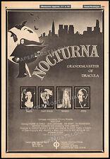 NOCTURNA__Orig. 1978 Trade AD promo / poster__YVONNE DE CARLO__NAI BONET_Dracula