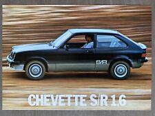 1981 Chevrolet Chevette S/R 1.6 original Brazilian sales brochure