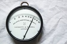 EARLY TWENTIETH CENTURY HUMIDITY READER OR HYGROMETER BY NEGRETTI & ZAMBRA