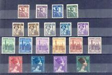 EGYPT - 1953-56 postage SC# 322-340 (19) values Very Fine MNH **