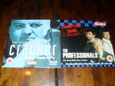 CRACKER & THE PROFESSIONALS - ROBBIE COLTRAINE, MARTIN SHAW - 2 x PROMO DVD's