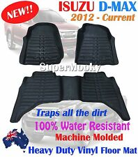 ISUZU D-MAX DMAX 2012 - 2017 Rubber Floor Mat Fully Molded