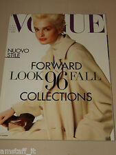VOGUE MAGAZINE ITALIA=1996 JULY=Kylie Bax by Steven Meisel=COLLECTIONS '96=