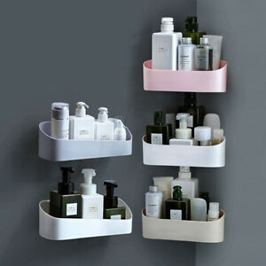 Suction Cup Bathroom Kitchen Storage Shower Shelf Holder Rack Organizer Useful