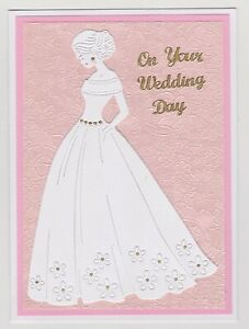Blank Handmade Greeting Card ~ ON YOUR WEDDING DAY with BRIDE