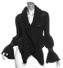 CASMARI Black Cashmere Knit Crochet Cardigan Open Sweater 1 XS/S NEW $725