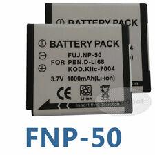 2 NP50 Battery for Fuji NP-50A Instax SQ10 FinePix XP100 XP150 XP170 RICOH WG-M2