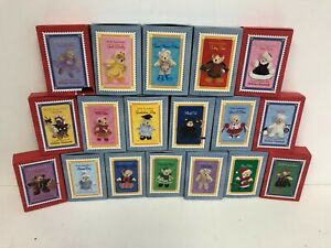 *NEW* LOT x18 Muffy Vanderbear Matchbox Series Collection Holiday Keepsake NIB