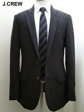 New J.CREW herringbone tweed blazer 38R charcoal gray jacket sport coat 38 R NWT