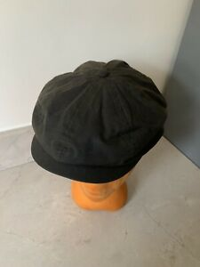Barbour Green Waxed Cap Hat Size M Medium