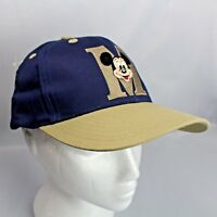Mickey Mouse Blue and Beige Ball Cap Goofys Hat Company Adjustable Snap Back NWT