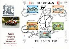 Special Cover - Capex 87 - 1987 The 80th Anniversary of the Isle of Man TT Mo...