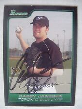 CASEY JANSSEN signed RC BLUE JAYS NATIONALS 2006 Bowman Draft baseball card AUTO